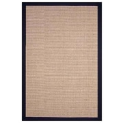 Acura Rugs Sisal Natural/Black Rug; 9' x 12'