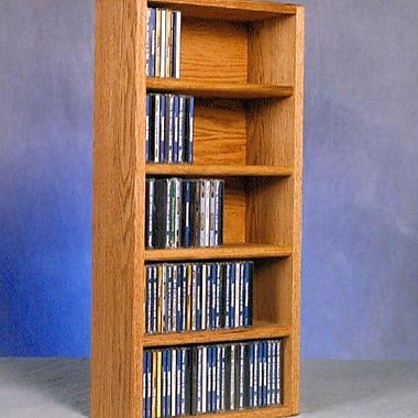 Wood Shed 500 Series 130 CD Wall Mounted Multimedia Storage Rack; Dark