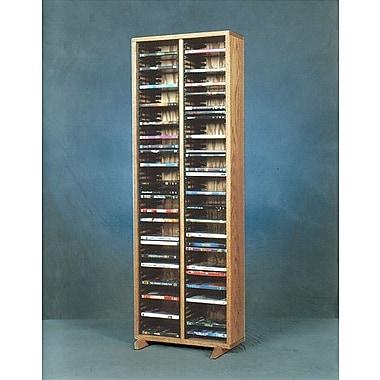 Wood Shed 200 Series 128 DVD Multimedia Storage Rack; Dark