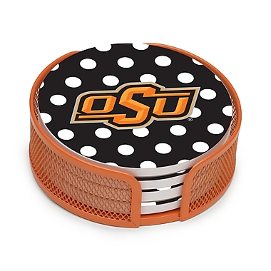 Thirstystone 5 Piece Oklahoma State University Dots Collegiate Coaster Gift Set