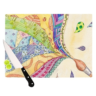 KESS InHouse The Painted Quilt Cutting Board; 11.5'' H x 8.25'' W x 0.25'' D
