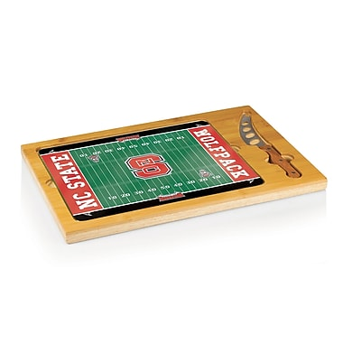 Picnic Time NCAA Football Icon Cutting Cheese Tray; North Carolina State Wolfpack