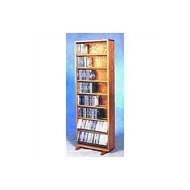 Wood Shed 800 Series 336 CD Dowel Multimedia Storage Rack; Dark