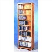 Wood Shed 800 Series 336 CD Dowel Multimedia Storage Rack; Dark