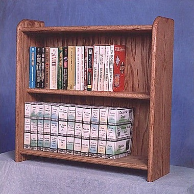 Wood Shed 200 Series 80 DVD Multimedia Tabletop Storage Rack; Clear