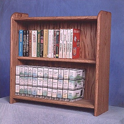 Wood Shed 200 Series 80 DVD Multimedia Tabletop Storage Rack; Unfinished