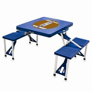 Picnic Time Picnic Table Sport; Blue with Football