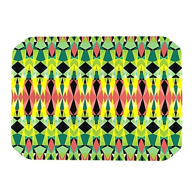 KESS InHouse Triangle Visions Placemat; Green/Yellow