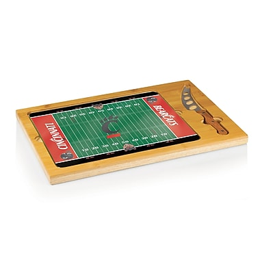 Picnic Time NCAA Football Icon Cutting Cheese Tray; University of Cincinnati Bearcats