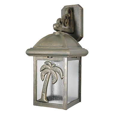 Melissa Americana 1-Light Outdoor Wall Lantern; Patina Bronze