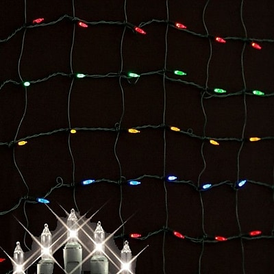 Queens of Christmas Minilights 150 Light Net Light; Clear