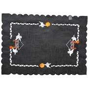 Xia Home Fashions Haunted House Embroidered Cutwork Placemat (Set of 4)