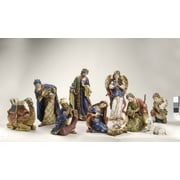 Roman, Inc. 10 Piece Nativity Figurine Set