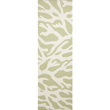 Somerset Bay Boardwalk Lime & White Area Rug; Runner 2'6'' x 8'
