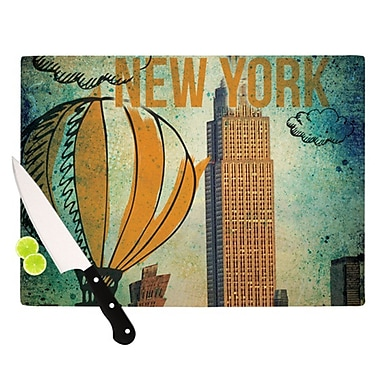 KESS InHouse New York Cutting Board; 11.5'' H x 8.25'' W x 0.25'' D