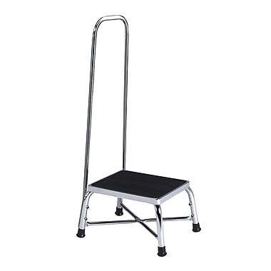 Brewer 1-Step Steel Bariatric Step Stool w/ 600 lb. Load Capacity; With Handrail
