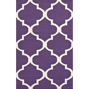 nuLOOM Marbella Moroccan Trellis Purple Kilim Rug; 7'6'' x 9'6''