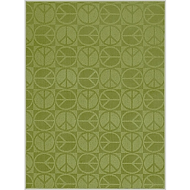 Garland Rug Lime Large Peace Indoor/Outdoor Area Rug; 7'6'' x 9'6''