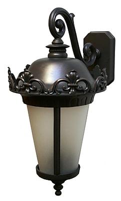 Melissa Parisian Elegance 3-Light Outdoor Wall Lantern; Black