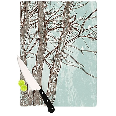 KESS InHouse Winter Trees Cutting Board; 11.5'' H x 8.25'' W