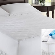 LCM Home Fashions, Inc. Waterproof Polyester Mattress Pad; Queen