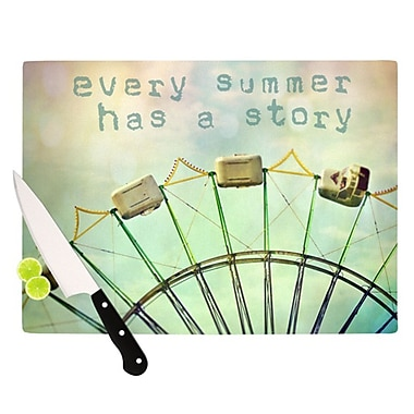 KESS InHouse Every Summer Has a Story Cutting Board; 11.5'' H x 8.25'' W