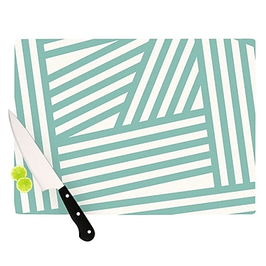 KESS InHouse Stripes Cutting Board; 11.5'' H x 15.75'' W x 0.15'' D