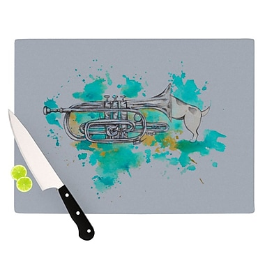 KESS InHouse Hunting for Jazz Cutting Board; 11.5'' H x 15.75'' W