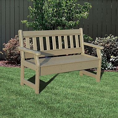 Little Cottage Company Heritage Poly Lumber Garden Bench; Pink