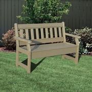 Little Cottage Company Heritage Poly Lumber Garden Bench; Tudor Brown/Black