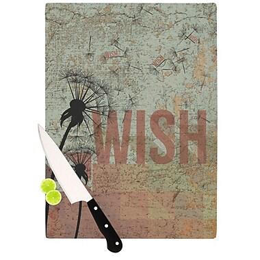 KESS InHouse Wish Cutting Board; 11.5'' H x 15.75'' W