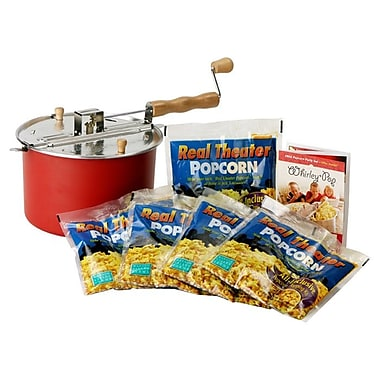 Wabash Valley Farms Whirley Pop 7 Piece Stove Top Popcorn Popper Set; Red
