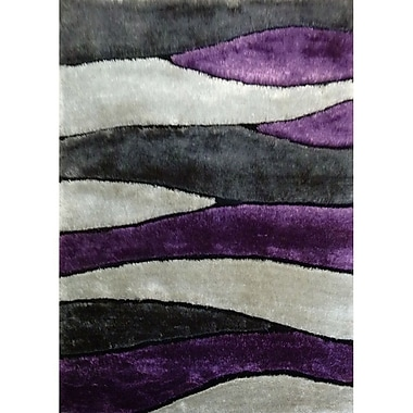 Rug Factory Plus Living Shag Purple/Gray Rug; 5' x 7'