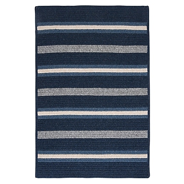 Colonial Mills Salisbury Blue Striped Area Rug; Rectangle 2' x 3'