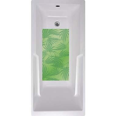 No Slip Mat by Versatraction Palm Frond Bath Tub and Shower Mat; Green