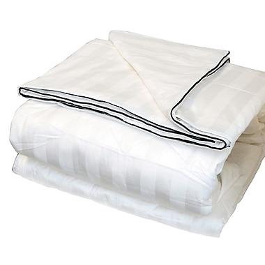 LCM Home Fashions, Inc. Silk-Filled Damask Stripe Cotton Blanket; King