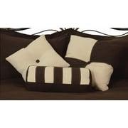 LCM Home Fashions, Inc. 3 Piece Throw Pillow Set; Chocolate / Khaki