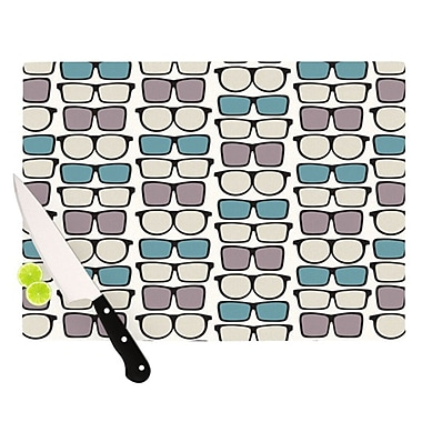 KESS InHouse Spectacles Geek Chic Cutting Board; 11.5'' H x 15.75'' W