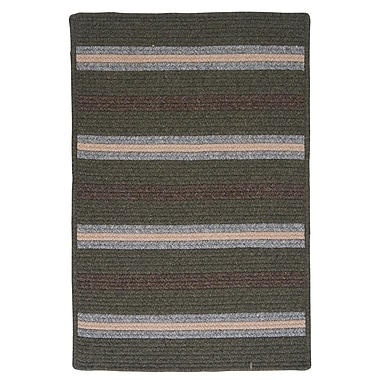 Colonial Mills Salisbury Green Striped Area Rug; Runner 2' x 10'