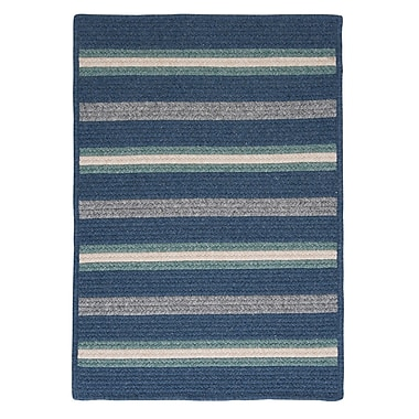 Colonial Mills Salisbury Blue Striped Area Rug; Runner 2' x 12'