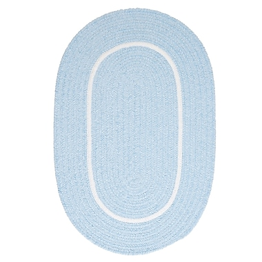 Colonial Mills Silhouette Blue Indoor/Outdoor Area Rug; Round 10'