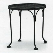 Woodard Briarwood Round Occasional Wrought Iron Side Table; Bronze