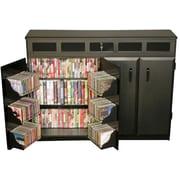 Venture Horizon VHZ Entertainment Top Load Multimedia Cabinet; Black & Cherry