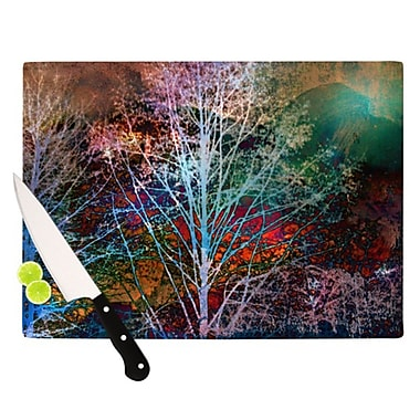 KESS InHouse Trees in the Night Cutting Board; 11.5'' H x 8.25'' W