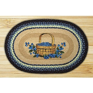 EarthRugs Blueberry Basket Printed Area Rug; Oval 1'8'' x 2'6''