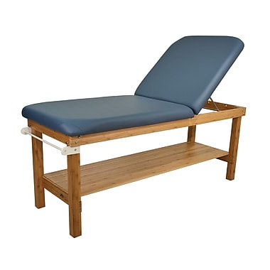 Oakworks 27'' W Powerline Treatment Table w/ Backrest; Sapphire