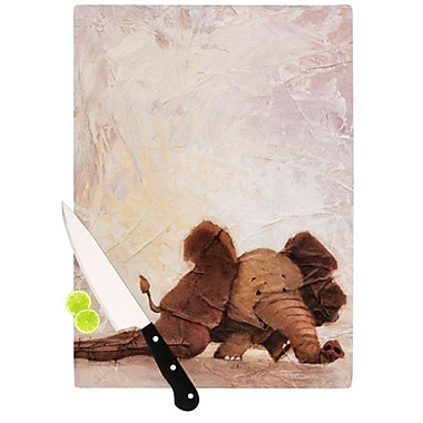 KESS InHouse The Elephant w/ the Long Ears Cutting Board; 11.5'' H x 15.75'' W