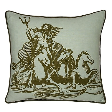 Kevin O'Brien Studio Nauticals Poseidon Throw Pillow; Seaglass