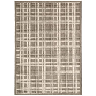 Kathy Ireland Home Gallery Hollywood Shimmer Mission Craft Gray/Tan Area Rug; 3'9'' x 5'9''