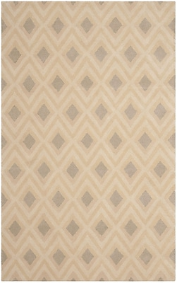 Isaac Mizrahi Beige/Grey Geometric Area Rug; Rectangle 4' x 6'